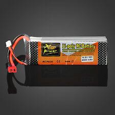 ZOP Power 4S 14.8V 4000MAH 30C Lipo Battery T Plug