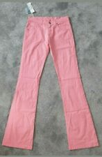 Lacoste Ladies Womens Pink Stretch Jeans Size T36 UK 8 30/34 BNWT