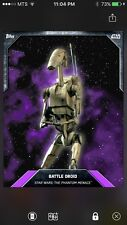 Topps Star Wars Digital Card Trader Preview Battle Droid Base Variant