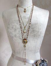 PILGRIM Necklace Heart Deer KITSCH DEVOTION Vintage Gold & Burnt Sienna BNWT