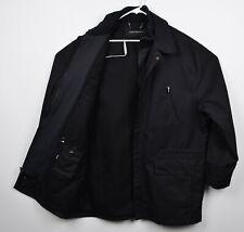 Jhane Barnes Men's 44 Solid Black Double Layer Full Zip Collared Jacket