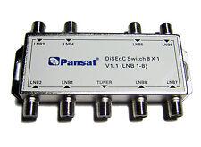 DISEQC 8X1 MULTI-SWITCH FTA Cascadable Stackable Connect 8 Sats PANSAT BRAND