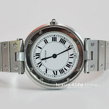 Cartier Santos Vendome GM/LM Stahl/Stahl wunderschön, Revision + Box