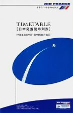 Air France Japan Timetable  March 29, 1998 =