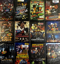 60 DIFFERENT SPANISH MOVIES ON 12 DVD LOT PURA ACCION Y BALAZOS ALL NEW SEALED