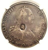 1797-99 Britain $1 Counterstrike on Bolivia 8 Reales C/S Coin 8R - NGC VF Detail