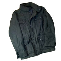 TUMI Thermore Insulated Mens Waxed Cotton Green Field Jacket Coat Size L