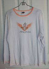 Harley Davidson Thermal Shirt XL? Grand Junction Colorado White With Orange Trim
