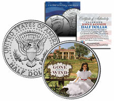 "Gone with the Wind ""Scarlett on Plantation"" Kennedy Half Dollar US Coin Licensed"