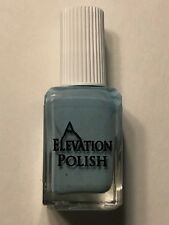 ELEVATION POLISH SEA MEETS SAND PASTEL BLUE SHIMMER NAIL LACQUER INDIE