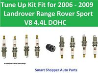 Spark PLugs, Oil Filter Fit For Tune Up 2006 - 2009 Landrover Ranger Rover Sport