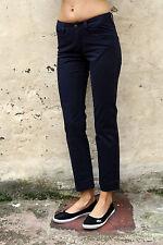 CK Calvin Klein Jeans Damas Denim Azul Marino Recto Calce Elástico W27 L28 UK10