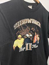 Boyz II Men Throwback 2004 Tour Mens L Anvil Graphic Black T-Shirt Vintage