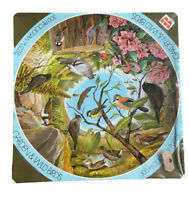 "CIRCULAR WHITMAN JIGSAW PUZZLE 'Nature in the Round"" 300 Pieces Garden Birds NEW"