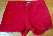 Girls Red Jordache Cut-Off Shorts, Size 10, Pre-Owned, Great Condition $9.99