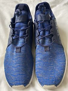 Mens Navy & Blue Adidas Originals X_PLR XPLR knit trainers size UK 7.5 EU 41.5