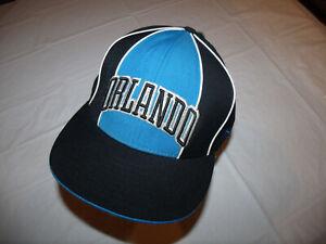 Orlando Magic Black w/ Blue Hat Reebok 100% Wool Fitted 7 3/4