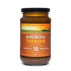 Australian Beef Bone Broth Concentrate -Turmeric-Ginger & Black Pepper 395g