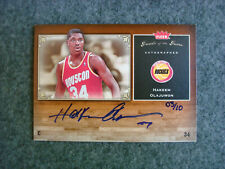 2005-06 Hakeem Olajuwon Gold Auto /10 Fleer Greats of the Game Autograph Rockets