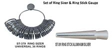 PARUU® Set of Aluminium Ring stick and Metal Ring sizer Jewelers tool st379-391