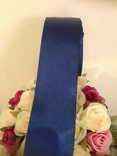 NAVY BLUE Wedding Car Ribbon 50 MM Wide X 6 Mtr  Wide. FLAT PACKED FREE POST