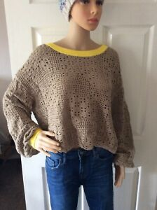 Free People Home Run Sweater - Natural / Warm Sands - M or L