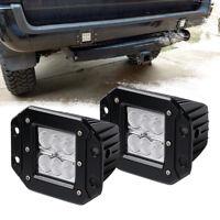 """4"""" flood Flush Mount LED Work Light Driving Fog BackUp Reverse lamp 4WD Trailer"""