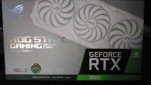 RARE WHITE SEALED NEW RTX 3080 ASUS ROG STRIX 010 GB OC FASTEST