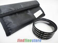 55mm 55 close-up macro +1 +2 +4 +10 close up lens filter kit set for DSLR SLR