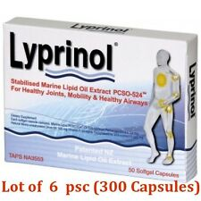 6 x Lyprinol New Zealand Green Lipped Mussel Extract - total 300 capsules!!!