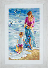 "Luca-S Cross Stitch Kit ""Precious Moment"" on Aida"