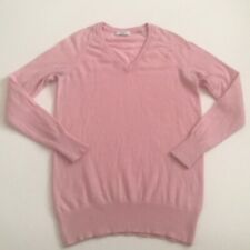 Equipment Femme Small 100% Cashmere Pink V-neck Sweater Pullover