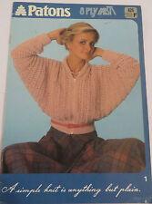 Patons 8ply Misti pattern book no. 626 ladies knitwear