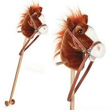 Unibos Wooden Hobby Horse / Galloping Neighing Sounds Classic Toy New Xmas 2015