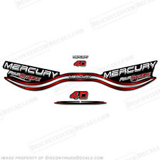 Mercury 40hp Fourstroke Outboard Decals Reproductions 1999 wrap around style