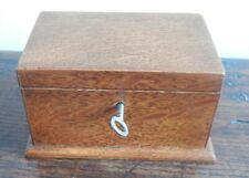 Lovely Small Oak Box - Lock and Key