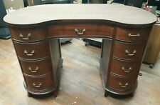 Vintage 1940/50s Era Kidney Bean Shaped Executive Writing Students Desk Nice