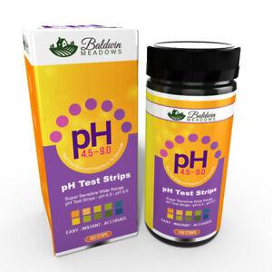 pH Test Strips for Urine & Saliva by Baldwin Meadows 100 Count - Alkaline Diet