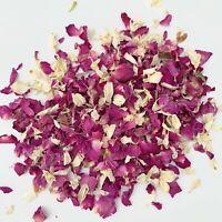 Natural Biodegradable Petal Wedding Confetti Pink Rose Petal White Delphinums 1L