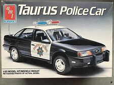 VTG 1989 AMT ERT TAURUS POLICE CAR 1/25 MODEL KIT 6078 NEW IN OPENED BOX