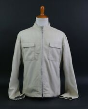 Armani Collezioni Lambskin Leather Jacket Tan Beige Men's Size 48