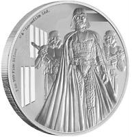 2016 STAR WARS, DARTH VADER, Star Wars Silver Proof Disney Coins