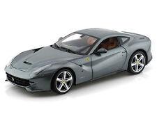 Hot Wheels BCJ74 Ferrari F12 Berlinetta 1:18 Diecast Model Car Grey