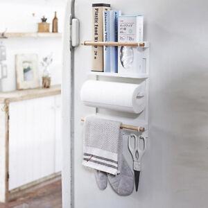 Mother Kitchen Rack Magnetic Fridge Organizer, Storage Stand Paper Towel Holder