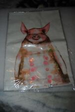 New listing 4 Piggies in a row kitchen tea towel art by Eli Halpin