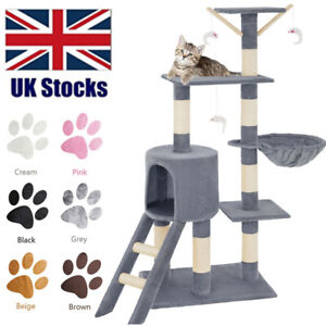 Cat Tree Scratching Post Activity Centre Indoor Bed Toys Climbing Scratcher