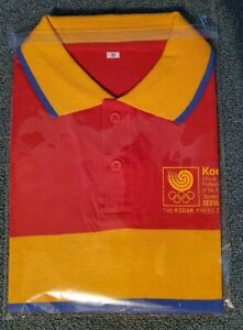 1988 Kodak Press Center Olympics Seoul Korea Polo shirt Small New Sponsor