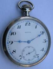 Antique Zenith Open Face Men'S Pocket Watch Swiss Made Serviced Keep Good Time