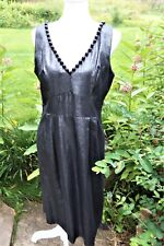 WDNY WOMEN'S SILVER/BLACK METALLIC V-NECK  DRESS SIZE 10 NEW WITH TAG