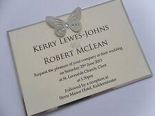 Handmade Personalised Butterfly Postcard Style Wedding Invitation Sample